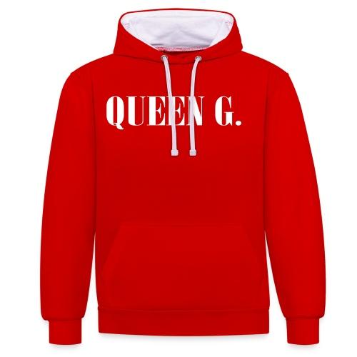 Queen G. Du bist die Königin! - Kontrast-Hoodie