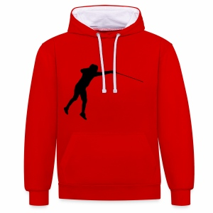 Jumping Fencer - Kontrast-Hoodie
