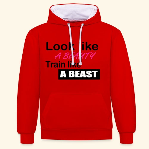 beauty - Contrast Colour Hoodie