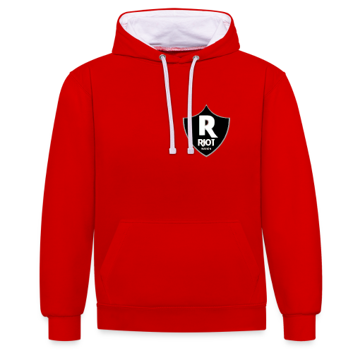 riot Nation logo schwarz - Kontrast-Hoodie