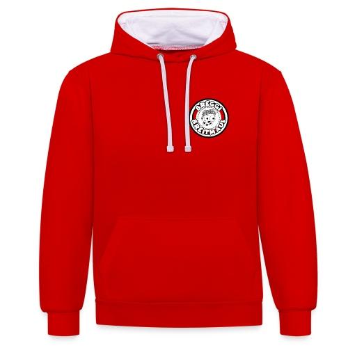 Breggi Breitmaul Logo - Kontrast-Hoodie