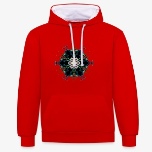 3D design create by self - Contrast Colour Hoodie