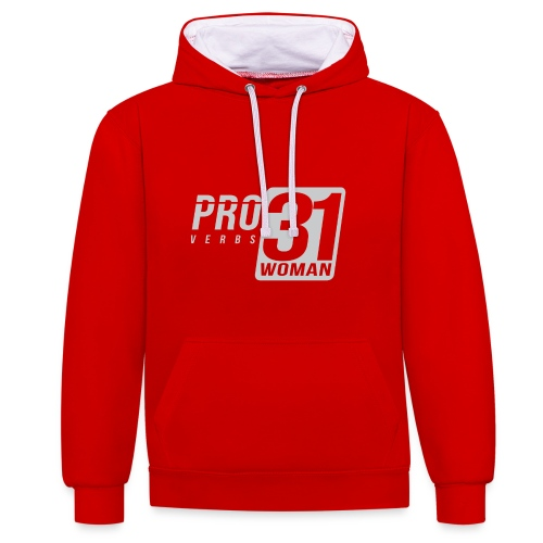 Proverbs 31 Woman - Contrast Colour Hoodie
