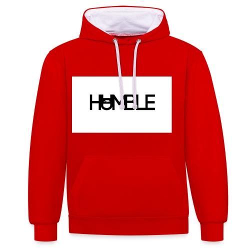 Humble logo - Contrast hoodie