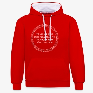 life is a game - Kontrast-Hoodie