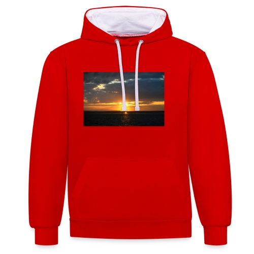 t-shirt zonsondergang - Contrast hoodie