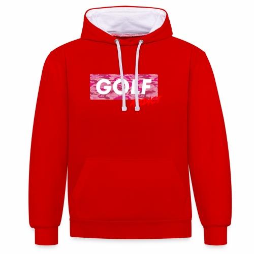 Golf Addict Camo Women - Sweat-shirt contraste