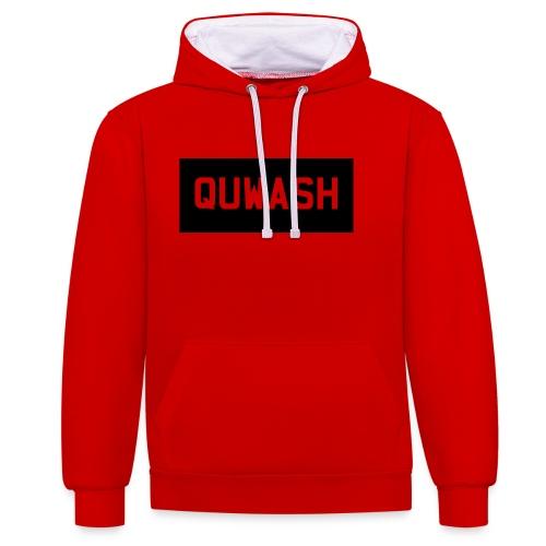 QUWASH - Contrast hoodie