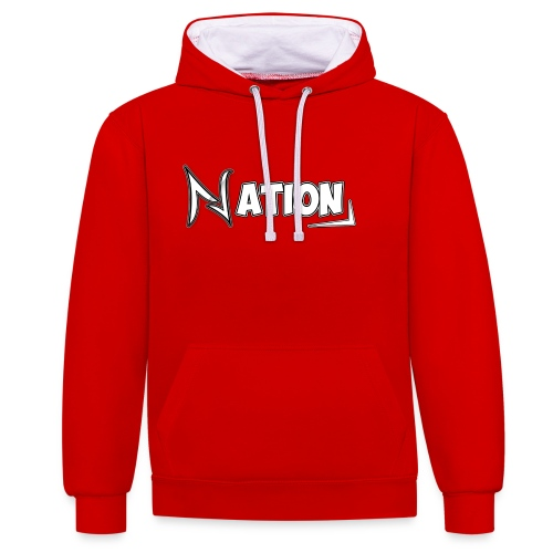 Nation Logo Design - Contrast Colour Hoodie