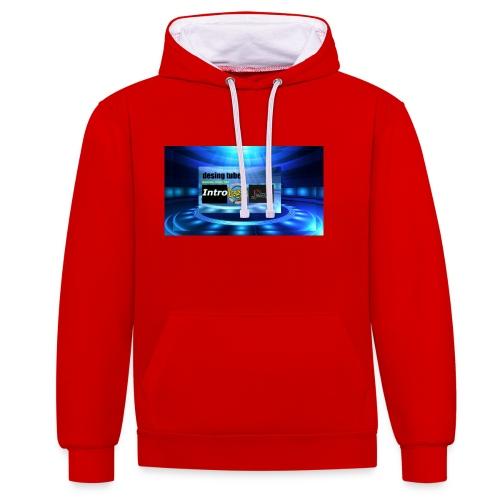 full banner t-shirt - Contrast hoodie