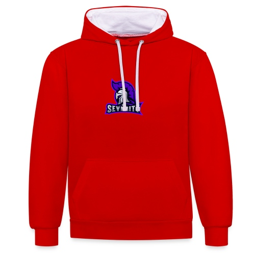 serverityggpnglogo-clothing - Contrast Colour Hoodie