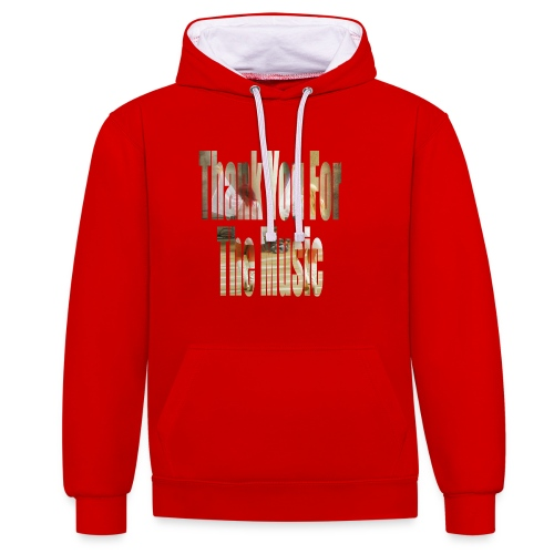 Thank You For The Music - Contrast Colour Hoodie
