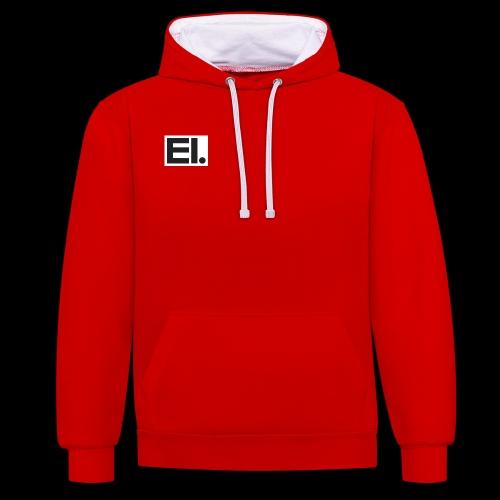 entity logo - Contrast Colour Hoodie