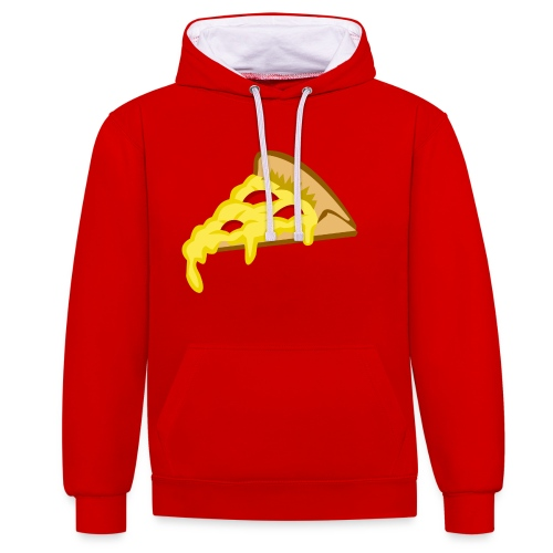 IF IT FITS MY SHIRT PIZZA? - Contrast hoodie