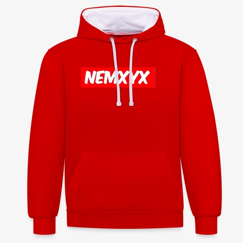NEMXYX - Felpa con cappuccio bicromatica