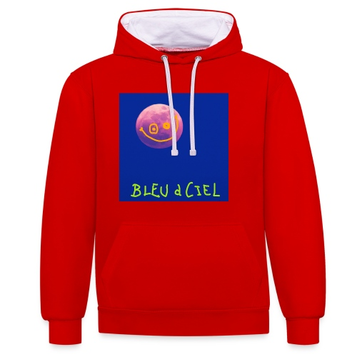 BLEU d CIEL- PINK mOOn collection - Sweat-shirt contraste