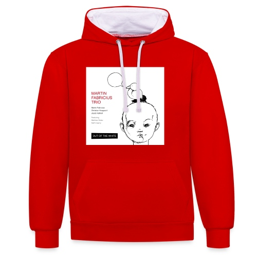 Out of the White - Mens Organic T-Shirt - Contrast Colour Hoodie