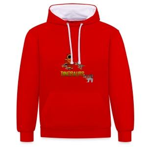 Minecraft Dinosaurs T-shirt - Contrast hoodie