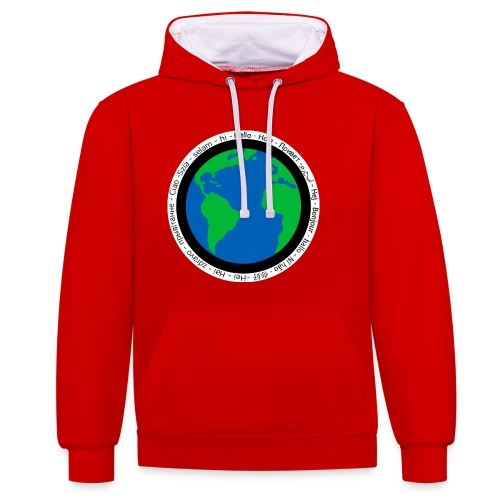 We are the world - Contrast Colour Hoodie