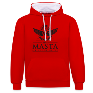 Die MASTA - Ein Königreich United / Full Logo - Kontrast-Hoodie