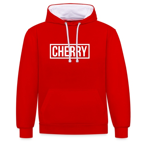 Cherry White - Contrast hoodie