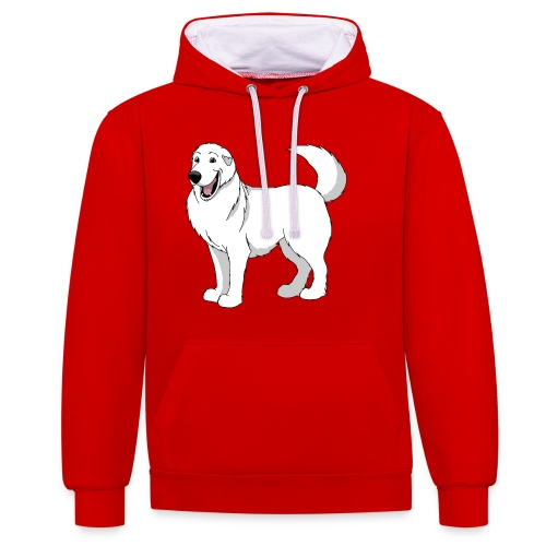 Gentle Giant Pyrenean Mountain Dog - Contrast Colour Hoodie