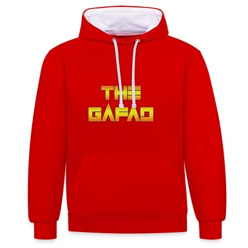The Gafad - Official Orange/Yellow Logo - Felpa con cappuccio bicromatica