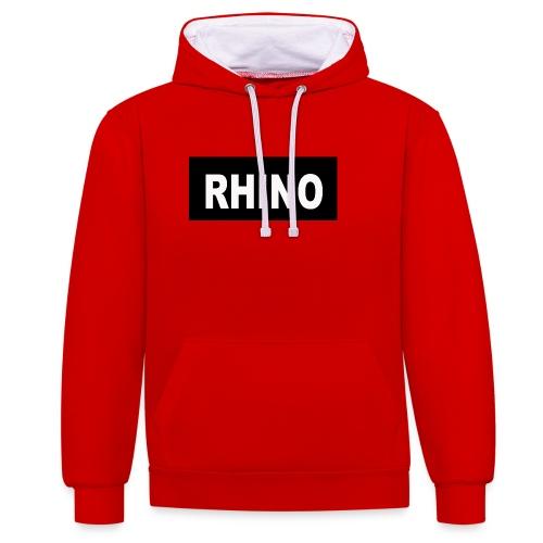 Rhino Logo - Contrast Colour Hoodie