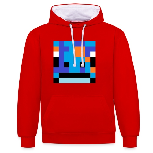 big_head - Contrast Colour Hoodie