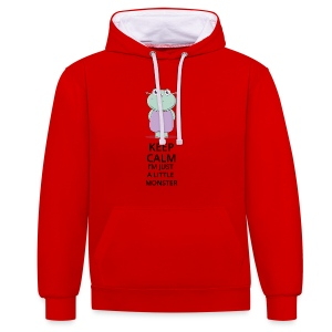 Keep Calm - Little Monster - Petit Monstre - Sweat-shirt contraste