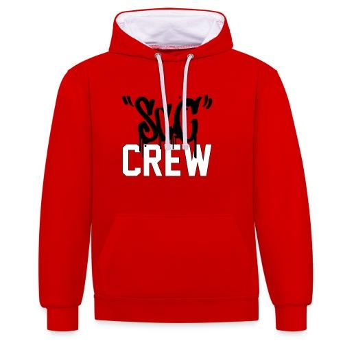 ScC CREW Logo Zwart - Contrast hoodie