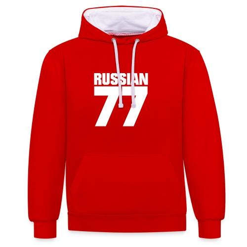 77 Russia - Kontrast-Hoodie