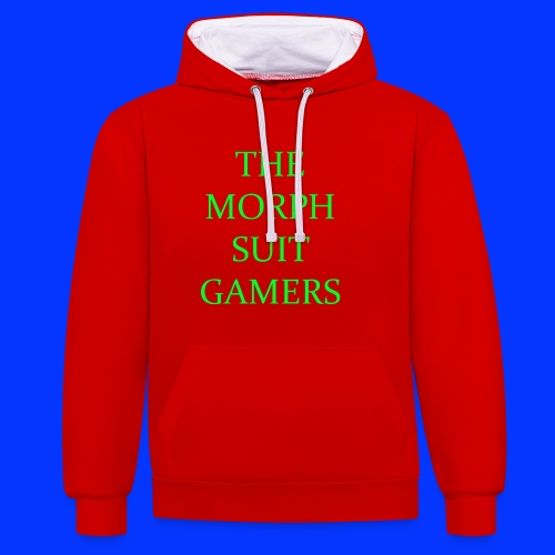 the morph suit gamers clothing etc 1 - Contrast Colour Hoodie