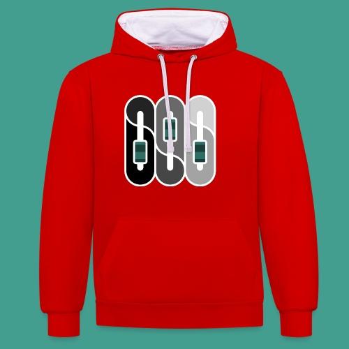 Silverman Sound Studios Logo - Contrast Colour Hoodie