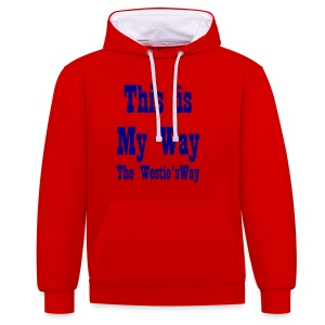 This is My Way Navy - Contrast Colour Hoodie