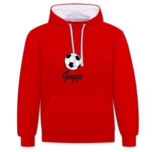 goggis logo - Kontrast-hættetrøje