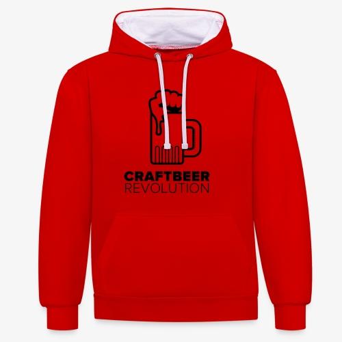Craftbeer Revolution - Kontrast-Hoodie