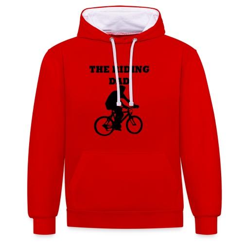 The riding dad T-Shirt - Kontrast-Hoodie