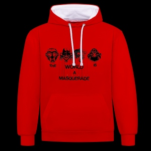 The World is a Masqeurade - Kontrast-Hoodie