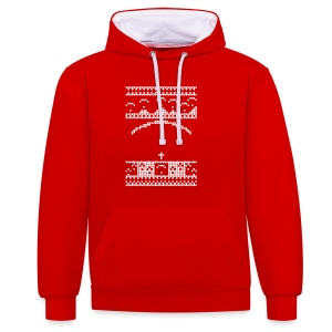 Paragliding Christmas Jumper - Contrast Colour Hoodie