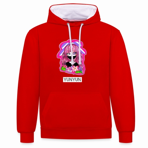 UH SHINDY - Contrast Colour Hoodie