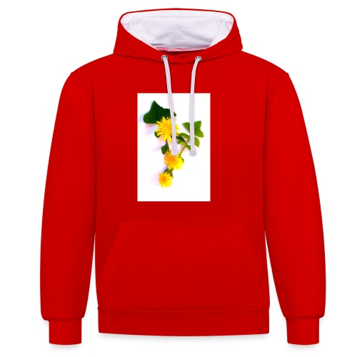 Margaritas 3d by The Cat Project - Sudadera con capucha en contraste
