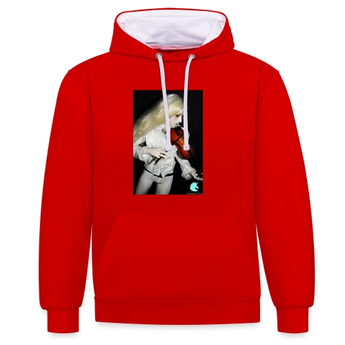 Vampire Violin Gothic Music Fantasy Enchanted - Contrast Colour Hoodie