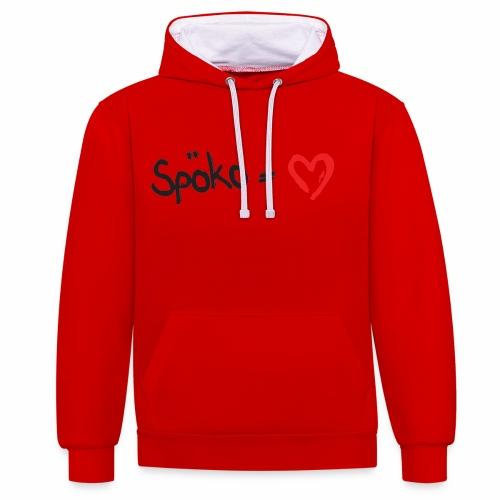 Spoeko = Herz - Kontrast-Hoodie