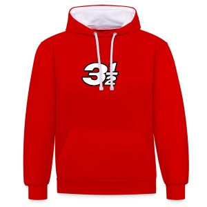 Three and a Half Logo - Contrast Colour Hoodie