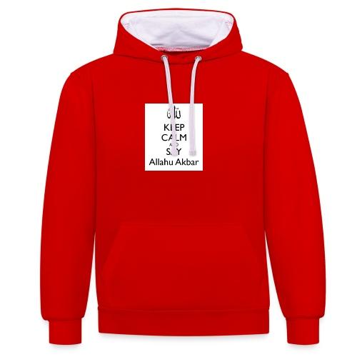 keep-calm-and-say-allahu-akbar - Kontrast-Hoodie