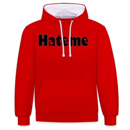 Hateme. - Contrast Colour Hoodie