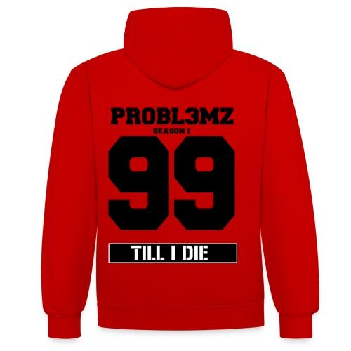 99 PR0BL3MZ Season 1 Hoodie White - Kontrast-Hoodie