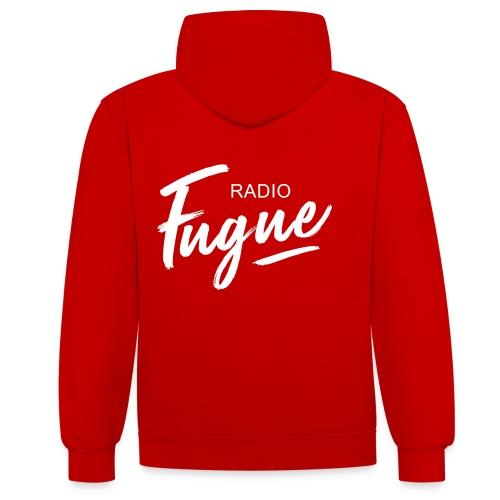 Radio Fugue Blanc - Sweat-shirt contraste