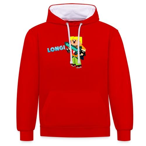 Kämpfender Longi Shirts - Kontrast-Hoodie